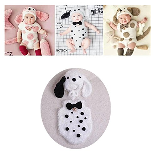 Newborn Infant Baby Photography Props Girls Boys Puppy Dog Outfits Photo Shoot Hat Bodysuit Clothes - Pictures Baby Puppies