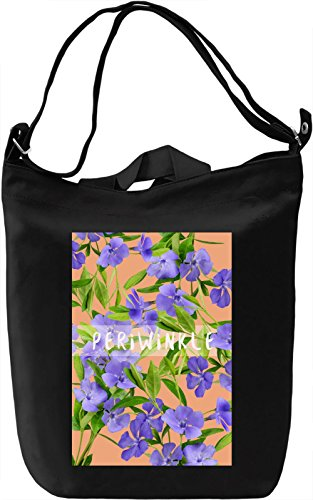 Periwinkle Borsa Giornaliera Canvas Canvas Day Bag| 100% Premium Cotton Canvas| DTG Printing|