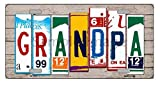 Automotive : Grandpa License Plate Art Wood Pattern Novelty License Plate Tag Sign