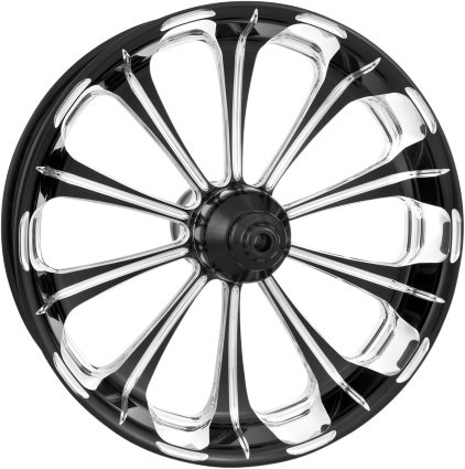 Performance Machine Revel Platinum Cut 21x3.5 Front Wheel (Dual Disc), Color: Black, Position: Front, Rim Size: 21 12047106PRELBMP