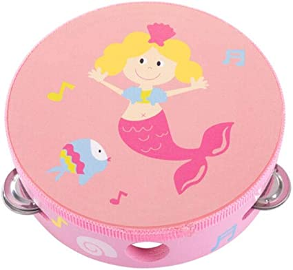 Color : Pink-15155cm Blue Tambourine Wooden Childrens Dance Tambourine Suitable For Early Childhood Education Music Enlightenment Toy Percussion Instrument