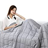 Rvqia Weighted Blanket for Adult| Natural Cotton Material with Glass Beads for Deliver Durability and Silky Comfort