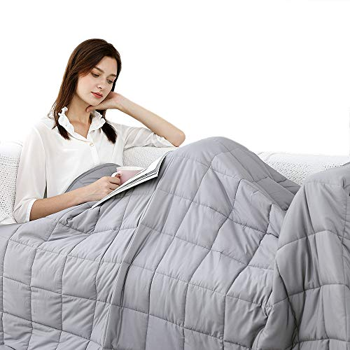 Cheap Rvqia Weighted Blanket for Adult| Natural Cotton Material with Glass Beads for Deliver Durability and Silky Comfort Black Friday & Cyber Monday 2019