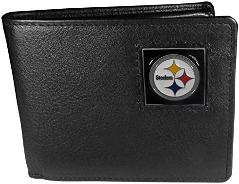 NFL Pittsburgh Steelers Geldbörse aus Leder