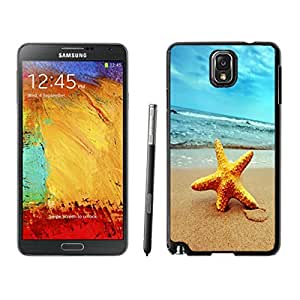Awesome Samsung Galaxy Note 3 Case, Starfish on Beach Durable Silicone Black Phone Back Cover for Note 3