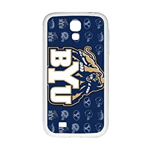 Happy BYU Cougars Brigham Young Cougars Logo Cell Phone Case for Samsung Galaxy S4