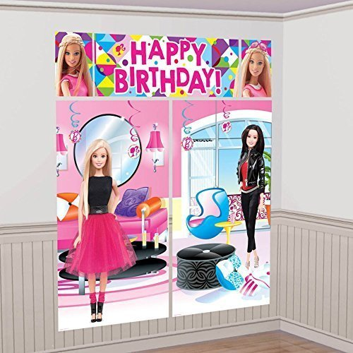 Amscan Scene Setters Wall Decorating Kit | Barbie Sparkle Collection | -