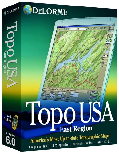 - Delorme Topo USA Mapping Software 6.0 East Region