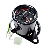 Universal Motorcycle Dual Odometer Speedometer Gauge 0-160km/h LED Backlight Signal Light Neutral Headlight Indicator