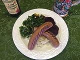 Lamb & Beef Gyro Bratwurst Sausage Frozen - 4 oz links, 1# Packs, 10# Case