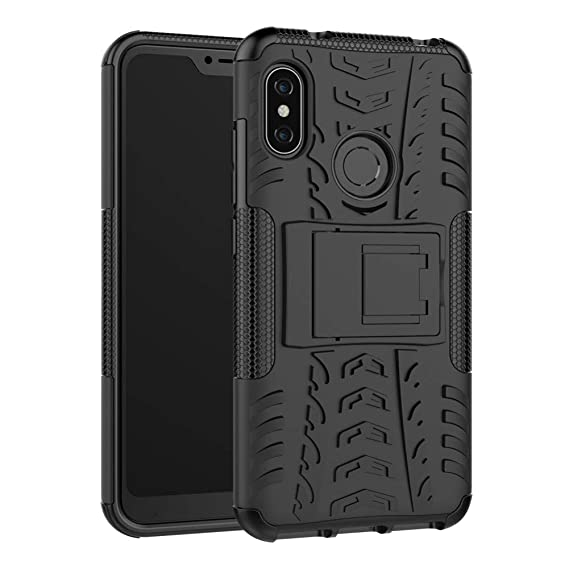 Xiaomi Mi A1 Case Hybrid DWaybox Rugged Heavy Duty Armor Hard Back Cover  Case with Kickstand for Xiaomi Mi A1 / Mi 5X 5 5 Inch (Black)
