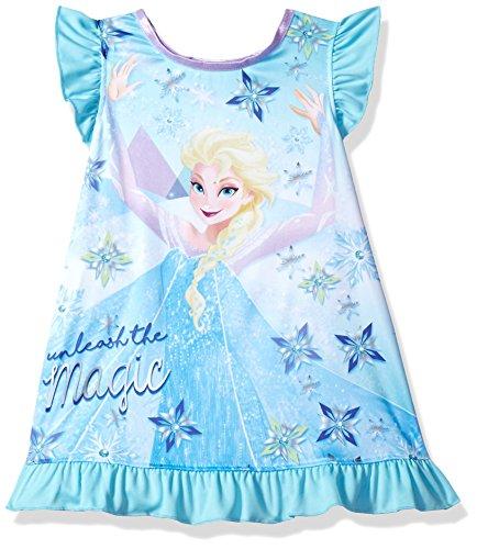 Disney Toddler Girls' Frozen Elsa Nightgown, Unleashed Magic, 2T