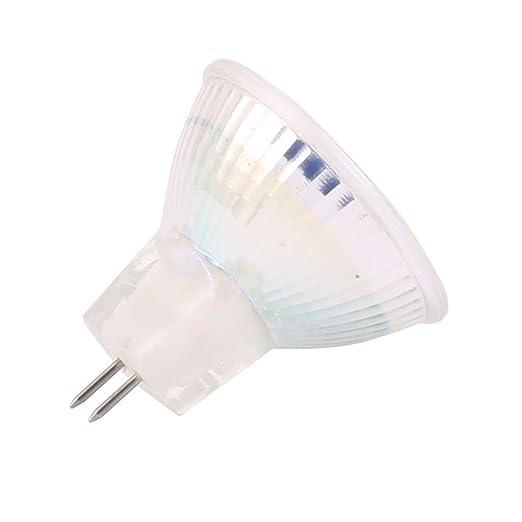 eDealMax DC 12V 3W MR11 5733 SMD 12 LED Bombilla LED Luz Lámpara blanca cálida iluminación - - Amazon.com