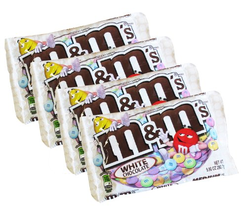 MMs White Chocolate Easter Candy - 8 ounces - Pack of 4