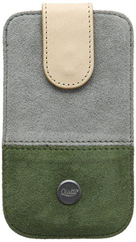 QIOTTI QX-P-0200-02-M Q.Pouch Alcan Premium Echtleder (Größe: M) grün