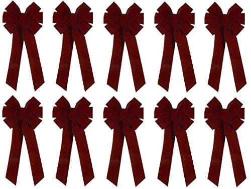 (Holiday Trims Velvet Bow 10
