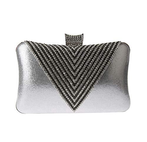 Mariage Sacs Diamants de Petit Argent Sac Paillettes Chaîne De Parti Soirée Femmes Luckywe rhinestone Fw7YqPq