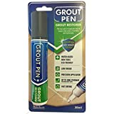 Grout Pen Large Dark Grey - Ideal to Restore the Look of Tile Grout Lines by Rainbow Chalk Markers Ltd