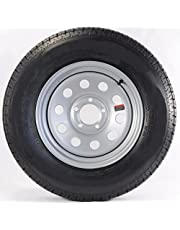 """15"""" Silver Mod Trailer Wheel with Bias St205/75d15 Tire Mounted (5x5) Bolt Circle"""