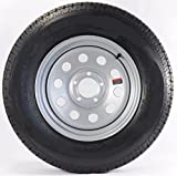 15' Silver Mod Trailer Wheel with Bias St205/75d15 Tire Mounted (5x5) Bolt Circle
