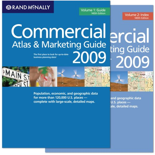 Rand McNally 2009 Commercial Atlas And Marketing Guide (Rand Mcnally Commercial Atlas And Marketing Guide) (2 Volume Set)