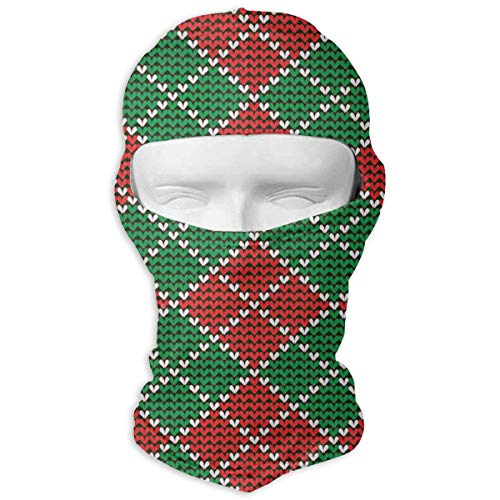 Argyle Thermal - Christmas Argyle Balaclava Face Mask Hood Patterned Thermal Windproof Ultraviolet-Proof Mask for Motorcycle Hiking Skiing