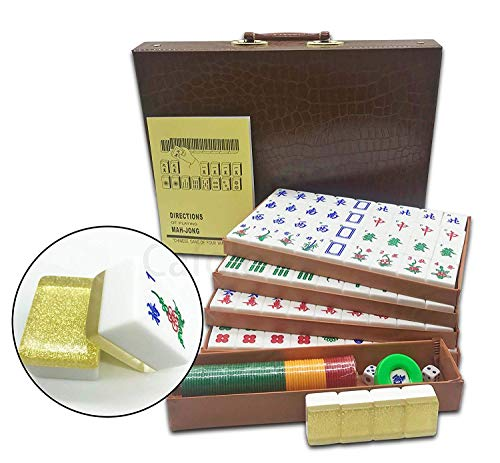 Mose Cafolo New Chinese Mahjong X-Large 144 Numbered Acrylic Tiles 1.5