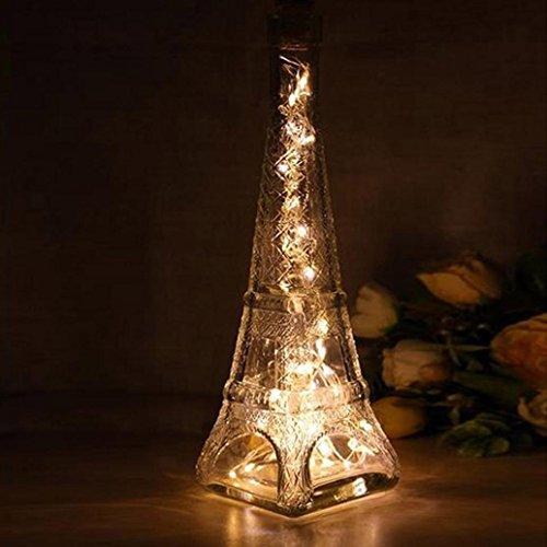 Fabal Solar Wine Bottle Cork Shaped String Light LED Night Fairy Light Lamp (10 LED, Warm White) by Fabal (Image #4)