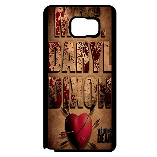 Samsung Galaxy Note 5 Cover Shell Fashion Vintage Heart Style Horror Zombies TV The Walking Dead Phone Case Cover Hipster Weird