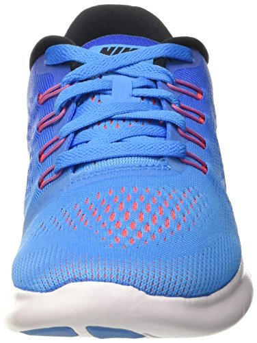 Nike Women's Wmns Free RN, BLUE GLOW/BLACK/RACER BLUE-BRIGHT CRIMSON, 12 M US by NIKE