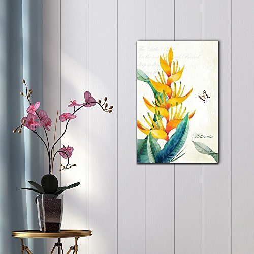 Retro Style Tropical Plant Heliconia