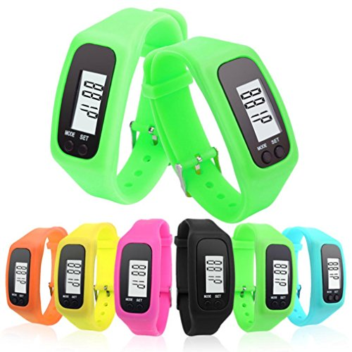 Perman Durable Digital LCD Pedometer Run Step Walking Distance Calorie Counter Watch Bracelet