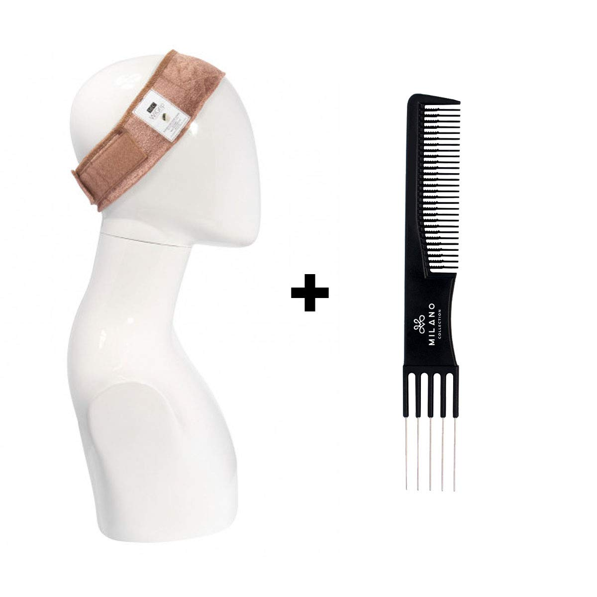 2-PACK Milano Collection ORIGINAL WiGrip Wig Comfort Band (Tan) Plus Free Teasing Comb by MILANO COLLECTION (Image #6)