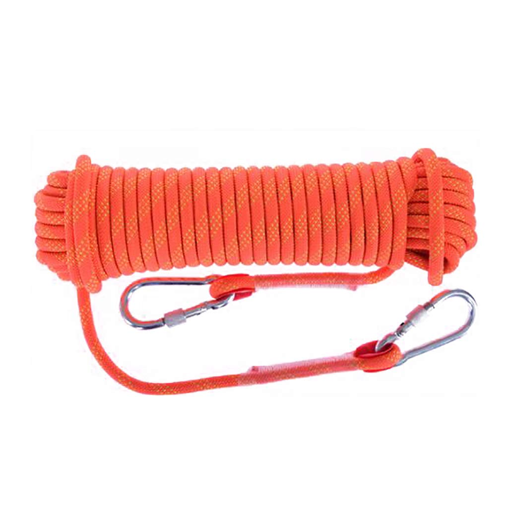 10mm 10m TLMYDD Climbing Rope Aerial Work Rope Nylon Rope Escape Rope Diameter 10 12 14 16 1  20mm Length 10 15 20 30 orange Ropes (Size   18mm 30m)