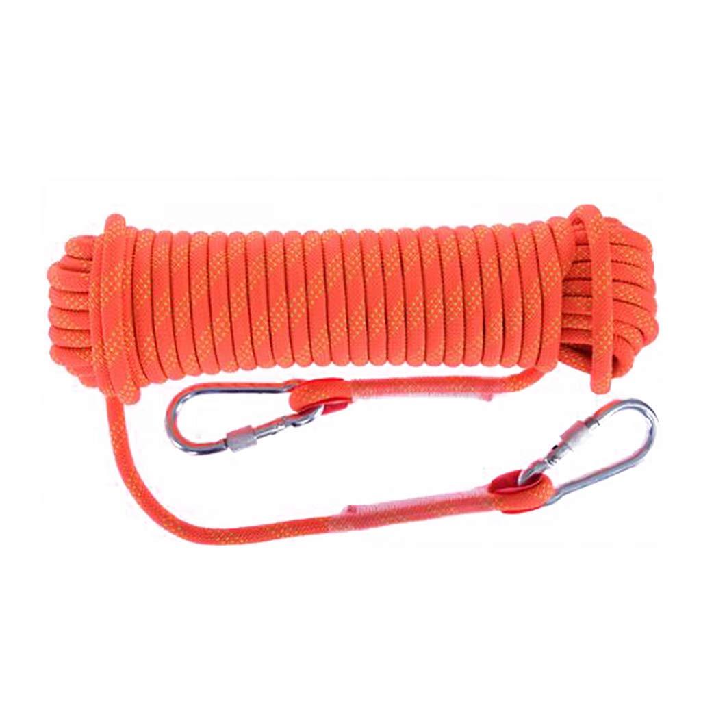 QARYYQ Corde d'escalade Corde de Travail aérienne Corde en Nylon Diamètre de Corde d'évacuation 10 12 14 16 1   20mm Longueur 10 15 20 30 Orange Cordes (Taille   14mm 10m) 14mm 10m