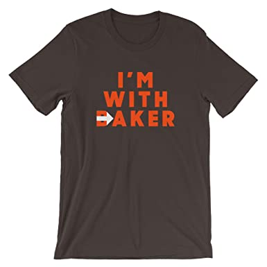 2522c59184 I'm with Baker - Cleveland Brown Orange Football Baker Mayfield Fan Short- Sleeve Unisex T-Shirt at Amazon Men's Clothing store: