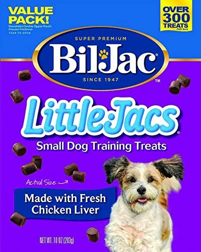 8 Pack Bil Jac Little Jacs Small Dog Treat, Liver, 10 Ounces each
