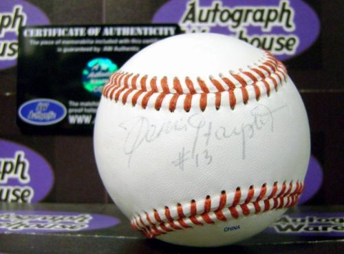 Autographed Denis DeJordy Baseball - Dennis Haysbert China UNOFFICIAL played Pedro Cerrano in Major League light (Faded Chino)