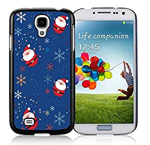 Individualization Samsung S4 TPU Protective Skin Cover Santa Claus Pattern Black Samsung Galaxy S4 i9500 Case 1 by lolosakes