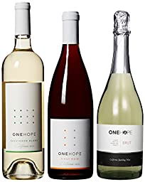 ONEHOPE Holiday Dinner II Wine Mixed Pack, Includes California Sauvignon Blanc, Pinot Noir, Brut Champagne, 3 x 750 mL
