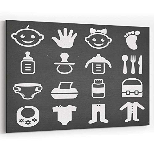 Baby and Newborn Royalty Free Vector icon Set Canvas Prints Wall Art for Modern Home - Royalty Icons Free
