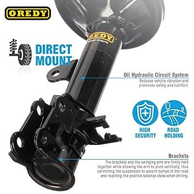 OREDY Rear Struts 2PCS Complete Struts Assembly Shocks and Struts Coil Springs Assembly Kit 15081 15082: Automotive