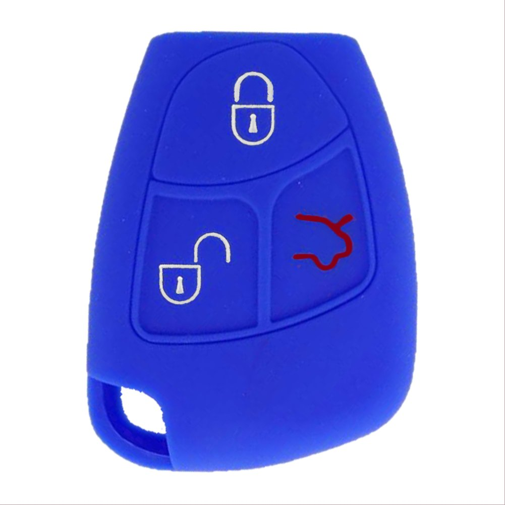 SpringPear Blue Protect Cover for Mercedes Benz 2-3 Buttons Key Silicone Case Protector 4350452778