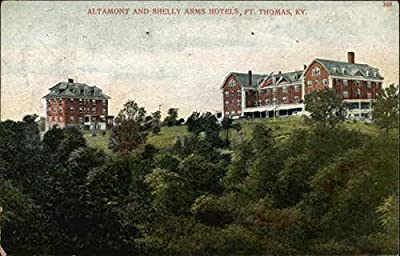 Altamont and Shelly Arms Hotels Fort Thomas, Kentucky Original Vintage Postcard