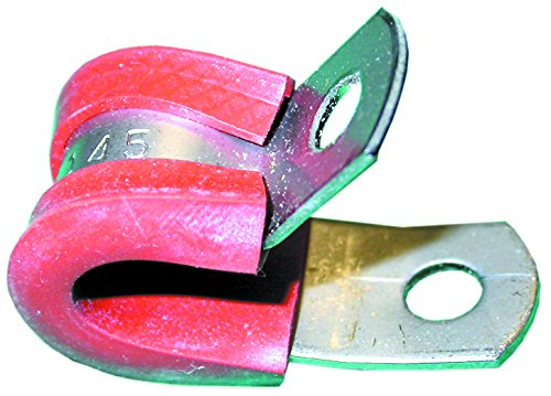 SPC11148 - Fastener, Cushioned P Clip, Screw Mount Cable Clamp, 12.7 mm, Stainless Steel, Red, 12.7 mm (SPC11148)