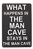 SUMIK What Happens In The Man Cave Metal Tin Sign, Vintage Style Poster