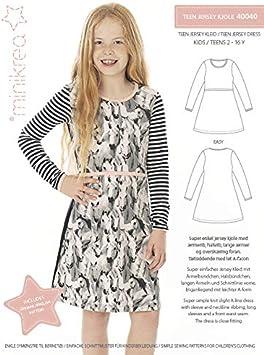 Magam - Patrón de costura para vestido de niña (incluye parche ...