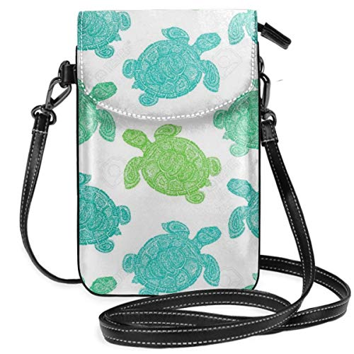 Small Cell Phone Purse Sea Turtle Pattern Crossbody Cell Phone Purse -