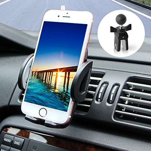 M-Better Universal Car Air Vent Mount for 1.9 - 3.7 Inch wide Smartphones and Electronic devices - Stylish Black Image