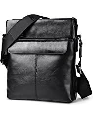 Vbiger Mens Vintage PU Leather Crossbody Shoulder Messenger Bag Business Bag